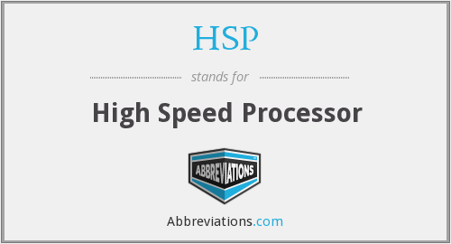 HSP - High Speed Processor