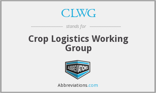 CLWG - Crop Logistics Working Group