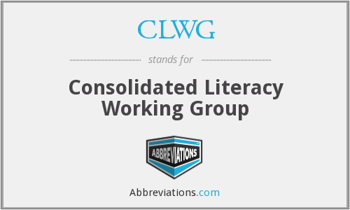 What does CLWG stand for?