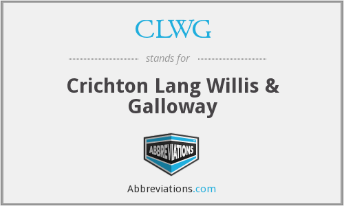 CLWG - Crichton Lang Willis & Galloway