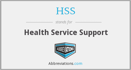 HSS - Health Service Support