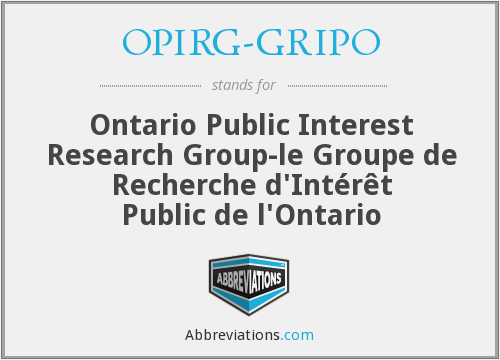 What does OPIRG-GRIPO stand for?