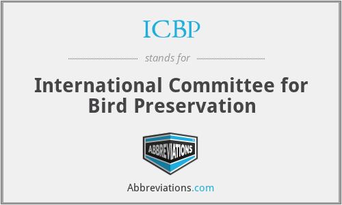 ICBP - International Committee for Bird Preservation