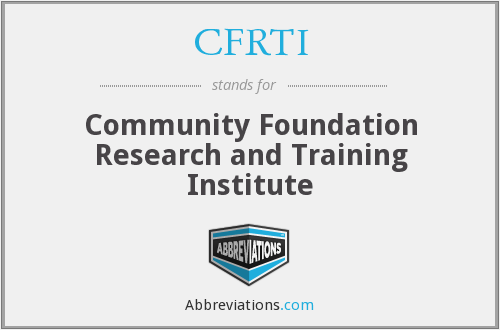 What does CFRTI stand for?