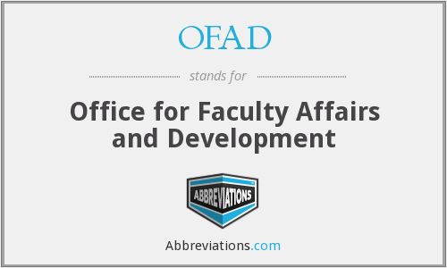 What does OFAD stand for?