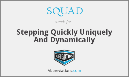 SQUAD - Stepping Quickly Uniquely And Dynamically