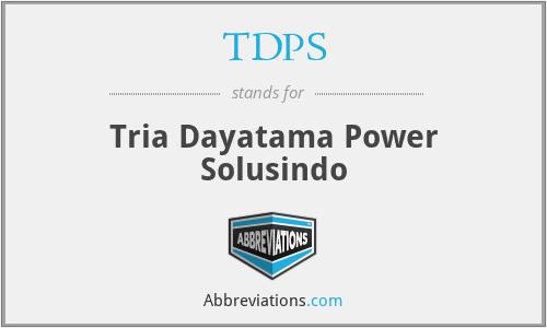 TDPS - Tria Dayatama Power Solusindo