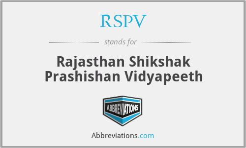 RSPV - Rajasthan Shikshak Prashishan Vidyapeeth