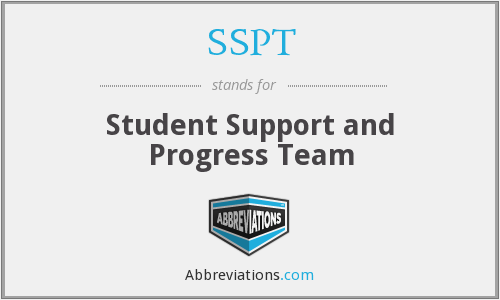 SSPT - Student Support and Progress Team