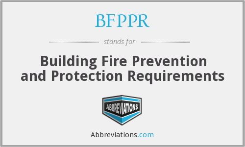 What does BFPPR stand for?