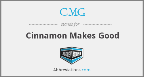 CMG - Cinnamon Makes Good