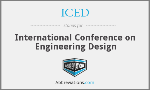 ICED - International Conference on Engineering Design