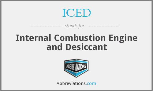 ICED - Internal Combustion Engine and Desiccant