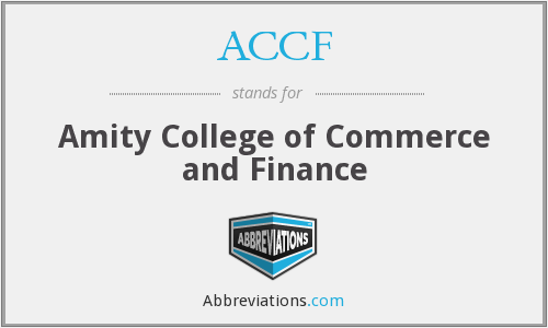 ACCF - Amity College of Commerce and Finance