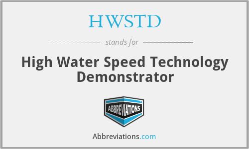 HWSTD - High Water Speed Technology Demonstrator