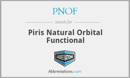 PNOF - Piris Natural Orbital Functional