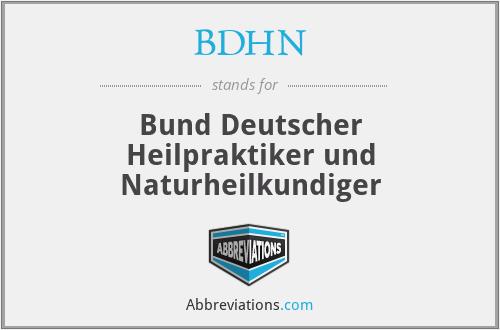 BDHN - Bund Deutscher Heilpraktiker und Naturheilkundiger