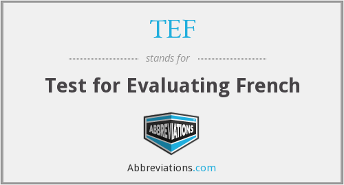 TEF - Test for Evaluating French
