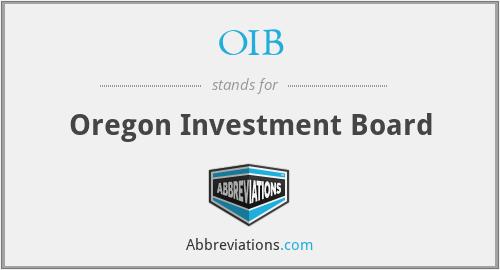 OIB - Oregon Investment Board