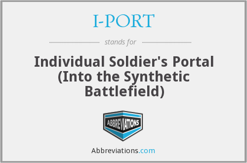 I-PORT - Individual Soldier's Portal (Into the Synthetic Battlefield)