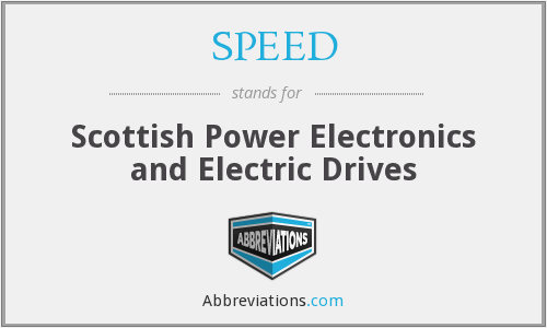 SPEED - Scottish Power Electronics and Electric Drives