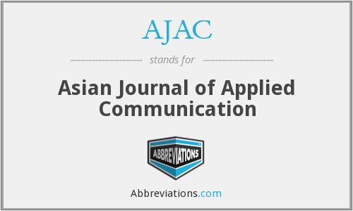AJAC - Asian Journal of Applied Communication