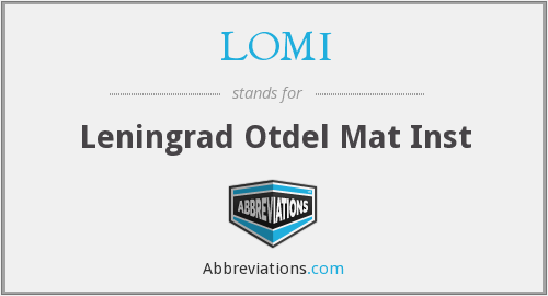 What does LOMI stand for?