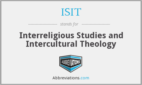 ISIT - Interreligious Studies and Intercultural Theology