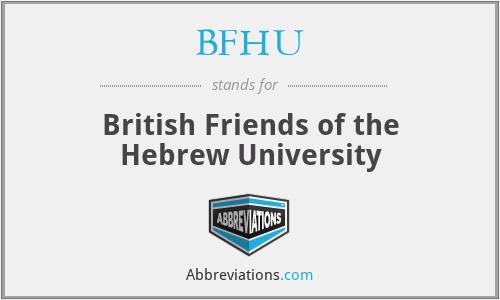 BFHU - British Friends of the Hebrew University