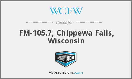 WCFW - FM-105.7, Chippewa Falls, Wisconsin