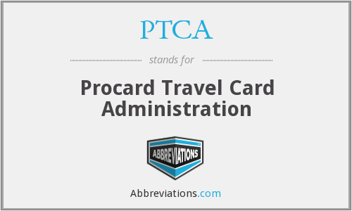PTCA - Procard Travel Card Administration