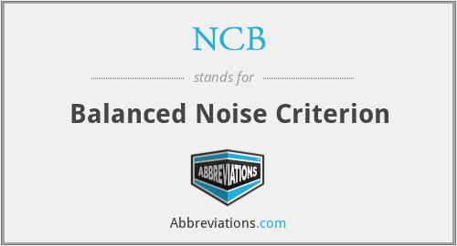 NCB - Balanced Noise Criterion