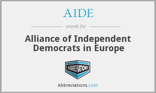 AIDE - Alliance of Independent Democrats in Europe