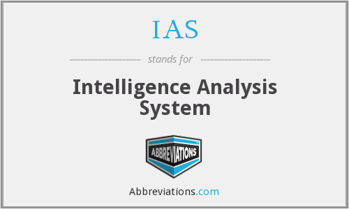IAS - Intelligence Analysis System