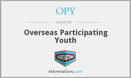 OPY - Overseas Participating Youth