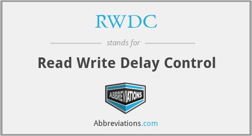 RWDC - Read Write Delay Control