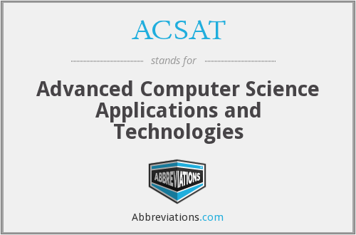 What does ACSAT stand for?