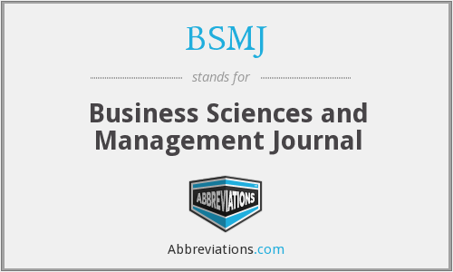 What does BSMJ stand for?