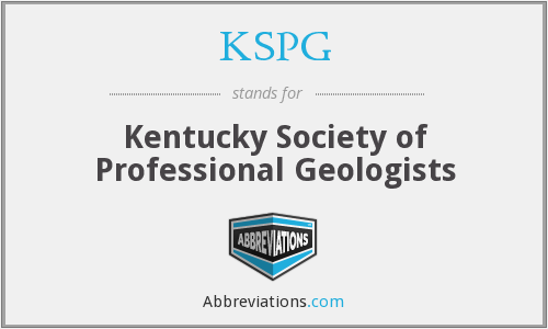KSPG - Kentucky Society of Professional Geologists