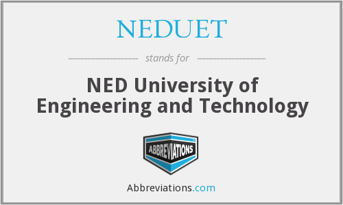 NEDUET - NED University of Engineering and Technology