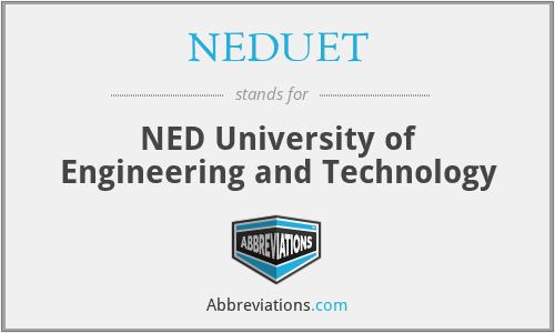 NEDUET - NED University of Engineering and Technology