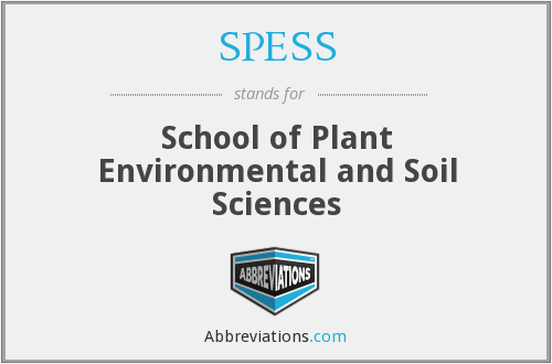 SPESS - School of Plant Environmental and Soil Sciences