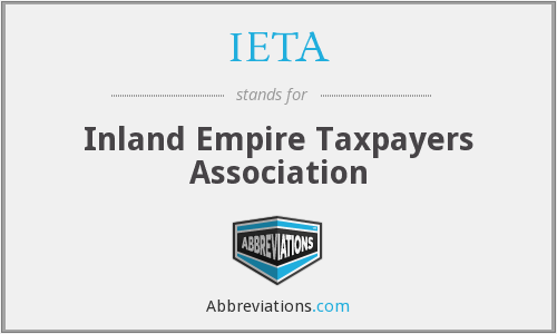 IETA - Inland Empire Taxpayers Association