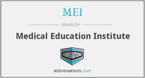 MEI - Medical Education Institute