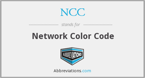 NCC - Network Color Code