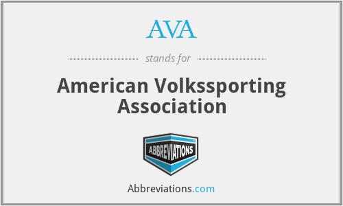 AVA - American Volkssporting Association