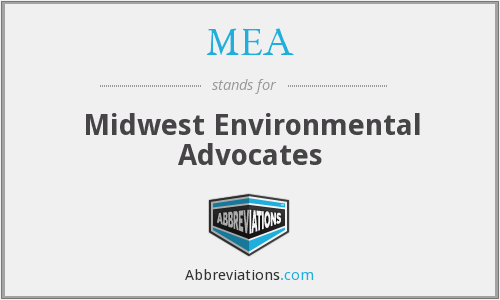 MEA - Midwest Environmental Advocates