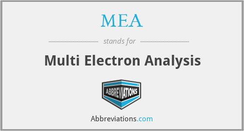 MEA - Multi Electron Analysis