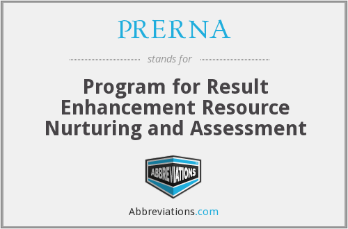 What does PRERNA stand for?