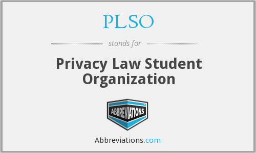 PLSO - Privacy Law Student Organization